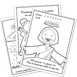 free kids christian activity pages
